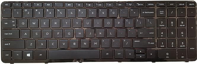 Okbyte Notebook Keyboard for HP 15-f 15-f000 15-f100 15-f200 15-f300 Series US Black keypad with Frame