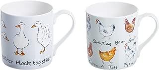 Price & Kensington Farmhouse Kitchen Set of 4 Ceramic Mugs