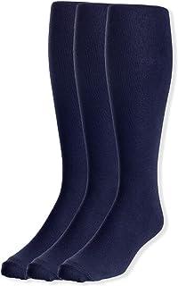 JRP Men's Knee Length Flat Extra Soft Cotton Knit Dress Socks - 3 Pack