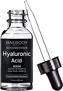 Baebody Hyaluronic Acid Serum for Face, Professional Anti-Aging Topical Facial Serum w Vitamin C & Vitamin E, Reduces Look...