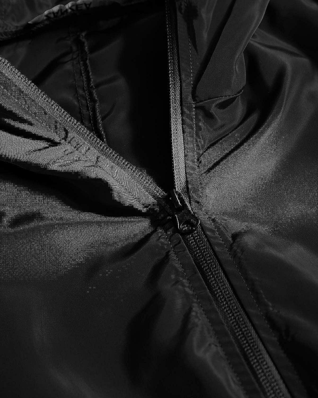 ZANZEA Women's Long Sleeve Zip Up Lightweight Coat Outdoor Casual Jacket Hooded Trench