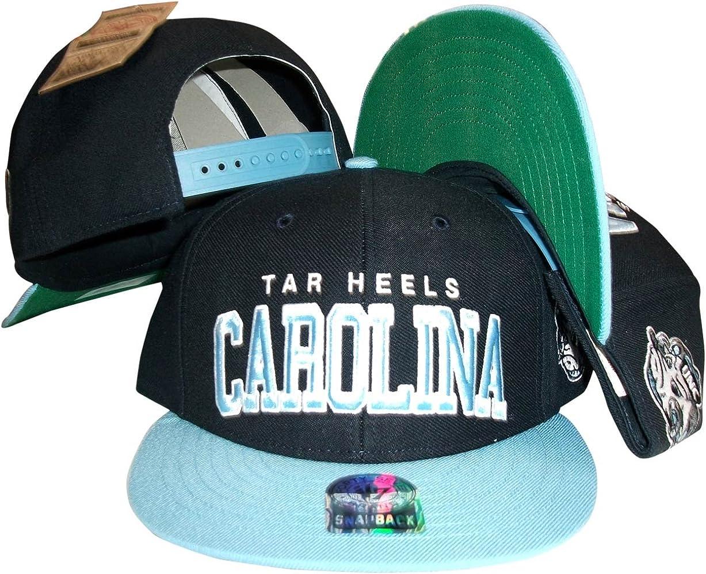 North Carolina UNC Tar Heels Navy/Carolina Blue Plastic Snapback Adjustable Plastic Snap Back Hat/Cap