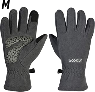 Outdoor Men And Women Touch Screen Windproof Anti-Skid Riding Warm Loves Bolton Outdoor Men And Women Touch Screen Full Finger Windproof Non-Slip Cycling Warm Gloves Gray M