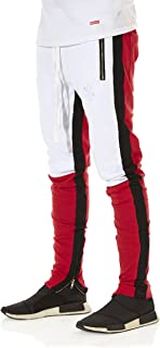 Striped Track Pants with Zipper