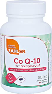 Zahler CoQ10, High Absorption Pure Coenzyme Q-10 Supporting Healthy Heart, Certified Kosher (120 Count)