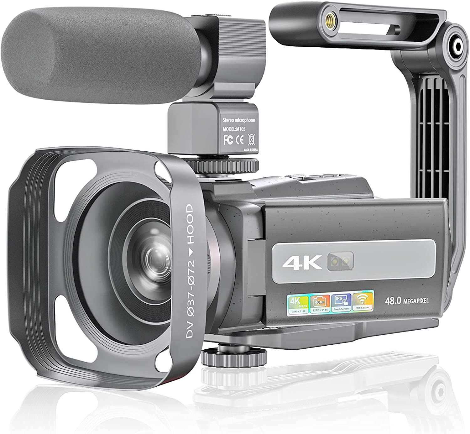 Melcam Video Camera 4K Camcorder WiF Cheap mail order shopping Some reservation Vlogging 60FPS 48MP