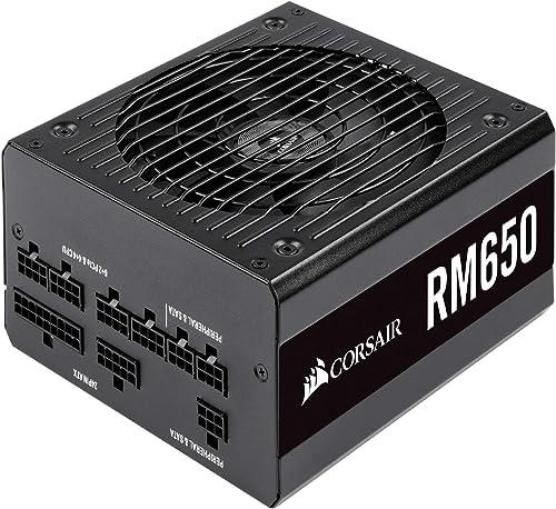 Corsair RM Series, RM650, 650W Fully Modular, 80+ Gold Certified, Power Supply Unit - Black