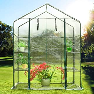 Quictent Portable Mini Greenhouse Walk- in Green Garden Hot House More Size (56