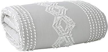 Wick, Somerset Geometric Cotton Duvet Cover, Button Closure, Care: Machine Washable