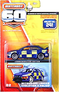 Matchbox 60th Anniversary Superfast Mitsubishi Lancer Evolution EVO X Police Blue