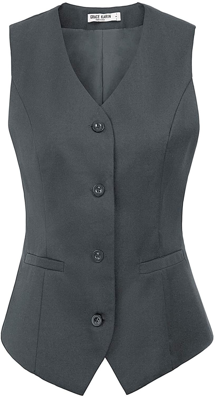 GRACE KARIN Womens Wholesale Waistcoat Max 56% OFF Vest Vintage Jacqua Steampunk Dress