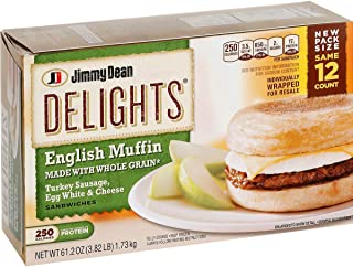 Jimmy Dean Delights, English Muffin, Turkey Sausage Egg White & Cheese, (2 Pack)