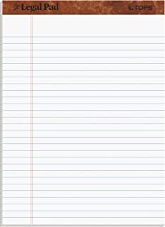 Tops Legal Pad, 8.5 x 11.75Inch, Letter Size, Perforated White, 12 Pads per Pack (7533)