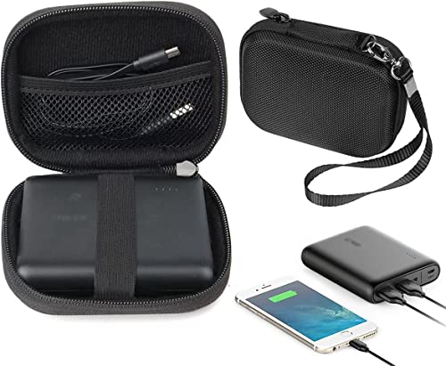 new arrival Travel Easy Designed Protective Case by wholesale WGear for Anker PowerCore 13000 Portable Charger, mesh Pocket for Cable, Fastening Elastic Strap, Featured Wrist Strap (Ballistics new arrival Black) outlet sale