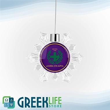 greeklife.store Lambda Chi Alpha Snowflake Round Ornament Christmas Decor