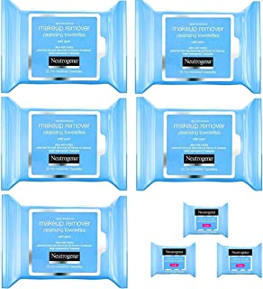 Neutrogena Makeup Remover Cleansing Towelettes, Daily Face Wipes to Remove Dirt, Oil, Makeup & Waterproof Mascara, 25 ct (...