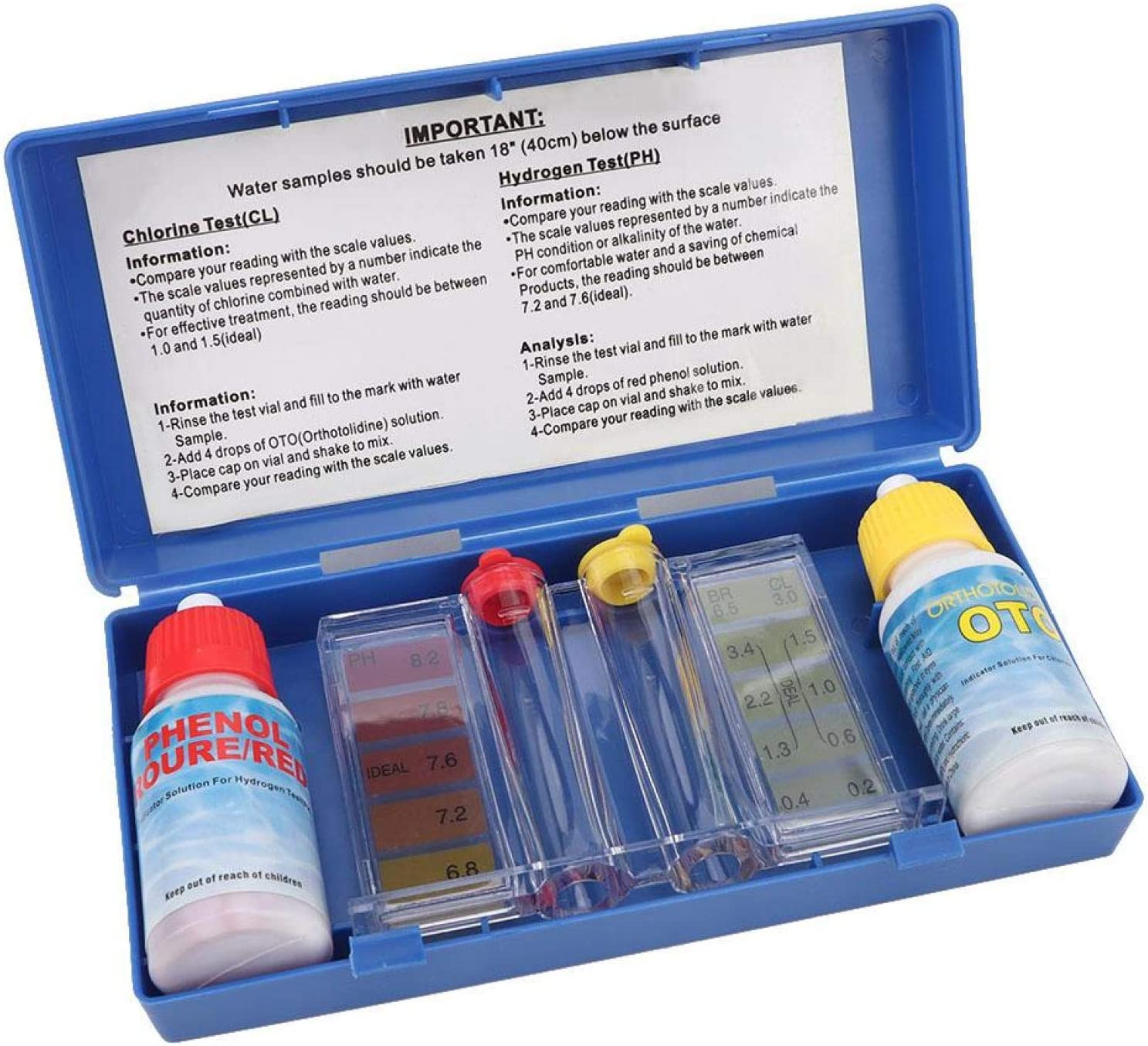 Deryang Pool PH Test Kit Finally popular brand Quickly Quality Austin Mall Results Tes Water