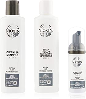 Nioxin System 2 Trial Kit for Natural Hair with Progressed Thinning, 15ml+150ml+50ml