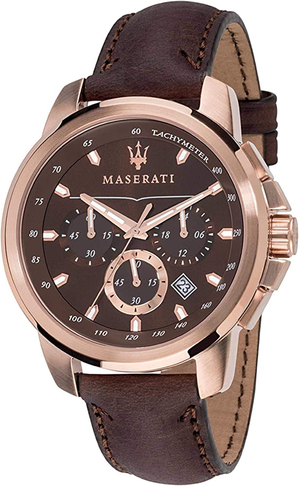 Maserati orologio uomo in acciaio e cinturino in pelle R8871621004