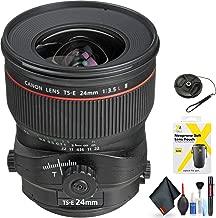 Canon TS-E 24mm f/3.5L II Tilt-Shift Lens for Canon EF Mount + Accessories (International Model)