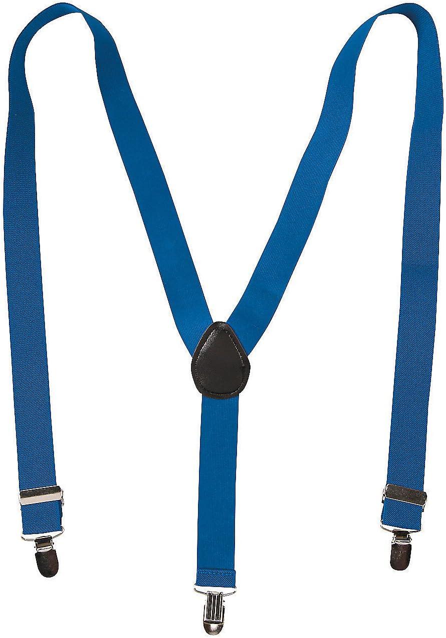 Fun Express Team Spirit Suspenders Blue - Apparel Accessories - 1 Piece
