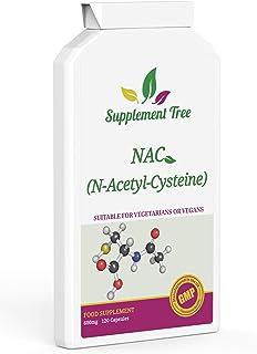 NAC N-Acetil Cisteína 600mg 120 cápsulas Potente antioxidante Apoyo Hígado & PULMÓN función apoyo Suplemento fabricado en RU VEGANOS & VEGETARIANOS Amigable