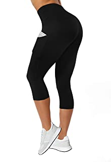 High Waist Yoga Pants for Women with Pockets,Workout Leggings Running Tights Tummy Control
