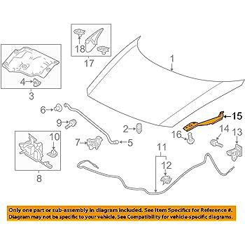 Genuine Honda Parts 60120-SNA-A00ZZ Right Hood Hinge