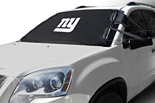 Frostguard NFL Premium Winter Windshield Cover for Ice and Snow, New York Giants | Standard Size Car Windshield Cover, Black | Fits Most Compact Cars, Sedans, Small Trucks, SUVs – 60 x 40 Inches