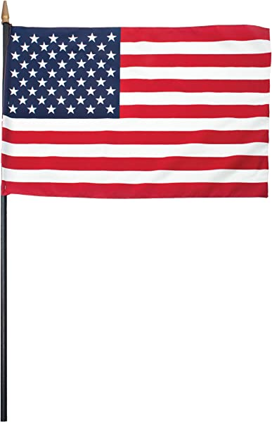 United States Flag 16 X 24 With 30 Wooden Staff