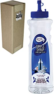 Master of Mixes Cocktail Essentials Simple Syrup, 375 ML Bottle (12.7 Fl Oz), Individually Boxed