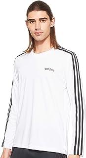 adidas Men's Mens D2M CLIMA 3S Longsleeve T-Shirt, White
