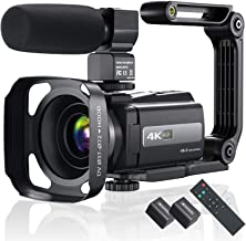 4K 60FPS Video Camera Camcorder Ultra HD 48MP YouTube Camera Vlogging WiFi Digital Camera Recorder IPS Touch Screen IR Nig...