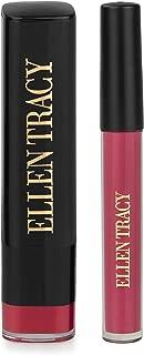 Ellen Tracy Matte Lipgloss and Lipstick Set, Lip Gloss and Lip Stick Set, Lipgloss Set for Women and Girls, Matte Lipstick - Sangria