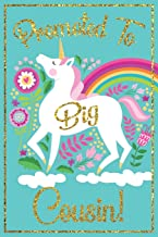 Big Cousin Gift: A write n' draw new cousin journal with lined and blank pages for writing and drawing, new cousin book, unicorn cousin book, unicorn ... to big cousin gift, big cousin promotion gift