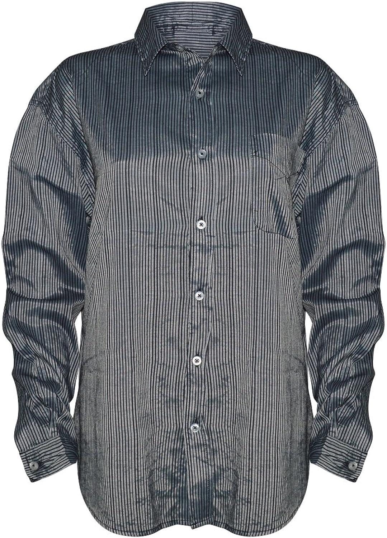 Fresh Produce Women's Cabin Stripe Button Down Long Sleeve Shirt Pocket