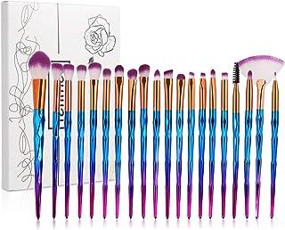 Eye Brush Set (20) with Box, Tenmon Unicorn Eye Shadow Eyeliner Advanced Mixed Anti-Wrinkle Tool Set Makeup Brush Makeup Foundation Eyebrow Eyeliner Blush Cosmetic Concealer Brush (Blue)