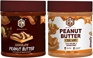 Muchmore Peanut Butter ( Chocolate 300 g and Creamy 300 g )| Pre Workout Supplements | Weight Loss/Gainer Product (600 g)...