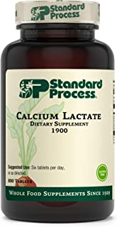 Standard Process Calcium Lactate - Immune Support and Bone Strength - Bone Health and Muscle Supplement with Magnesium and Calcium - 800 Tablets