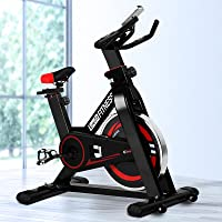 Everfit Spin Exercise Bike Stationary Flywheel Home Gym Fitness Indoor Cycling Adjustable Resistance Workout Pulse...