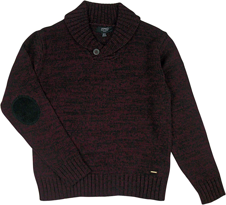 Jones New York Boys Button Shawl Collar Pullover Sweater