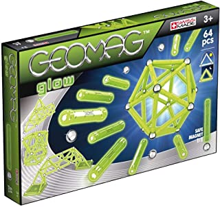 Geomag 336 Glow Magnetic Construction Set, 64-Pieces