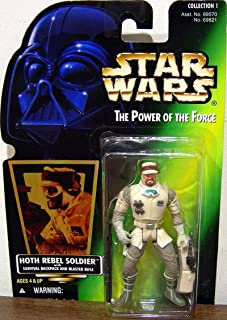 Star Wars the Power of the Force Hoth Rebel Soldier W/survival Backpack and Blaster Rifle