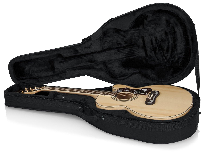 GATOR GL-JUMBO - Estuche para guitarra acústica, color negro, Guitarra jumbo: Amazon.es: Instrumentos musicales