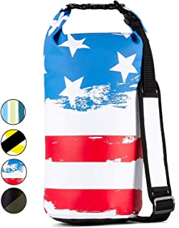 Windrift Waterproof Dry Bag - Military Grade 10L Airtight Dry Sack Includes 2 Padded Backpack Straps - Perfect for Beach, Floating, Rafting, Hiking, Fishing, Swimming, and More