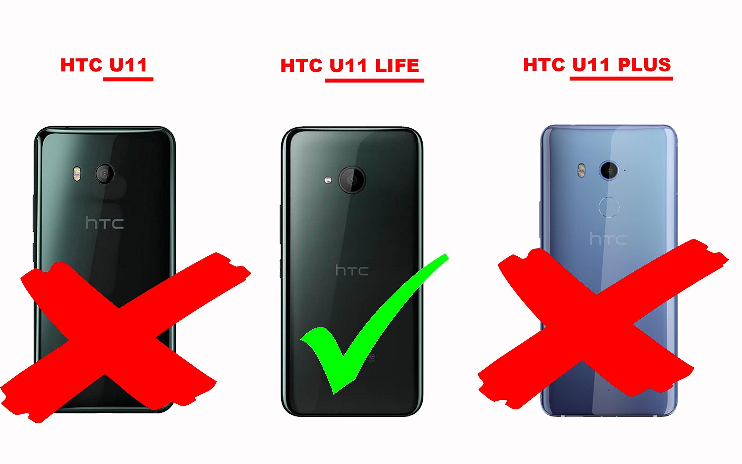 Cadorabo Funda Libro para HTC U11 Life en Gris Negro – Cubierta Proteccíon con Cierre Magnético, Tarjetero y Función de Suporte – Etui Case Cover Carcasa: Amazon.es ...