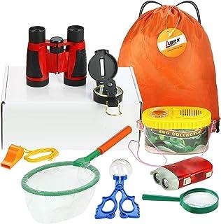 冒険セット 探検キット 9点セット 収納バック付き 知育玩具 学習玩具 子供のおもちゃ 自然観察 教育道具 アウトドア