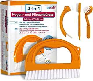Brosse de nettoyage pour joint/carrelage - anti-moisissure/sans produits chimiques - maison/salle de bain - lot de 4