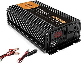 GBHJJ Omvandlare 1800 W, ren sinus växelriktare, 900 W kontinuerlig effekt, bilväxelriktare, med USB-laddningsportar och v...