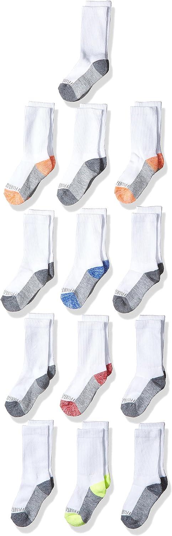 Fruit of the Loom Boys' 13-Pack Everyday Soft Crew Socks